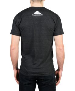 men t-shirt black trekking mountain