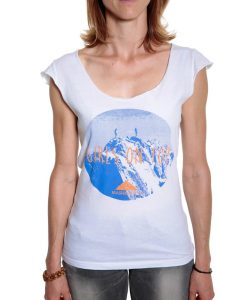 woman summer top mountain climbing