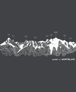 design mont blanc chamonix vector