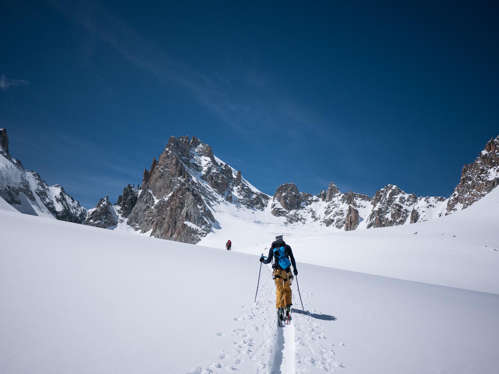 ski de rando glacier chamonix initiation